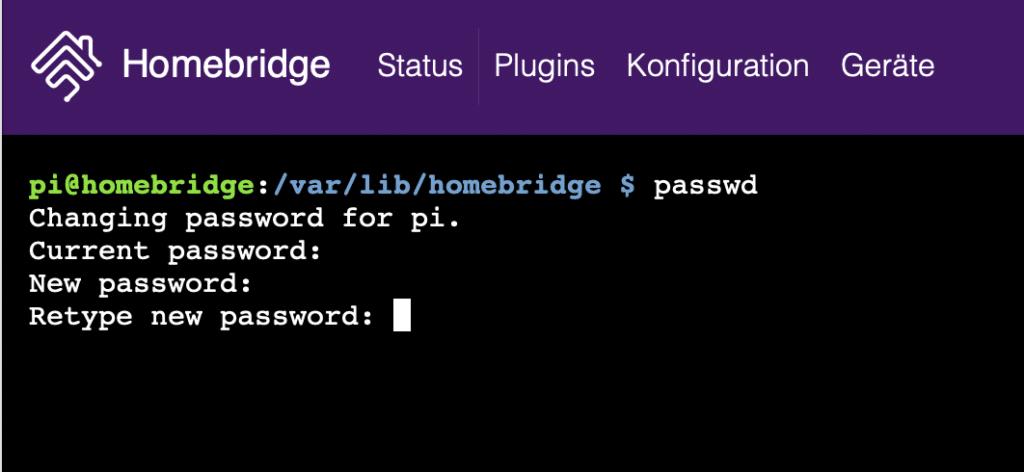 Raspberry Pi Passwort ändern