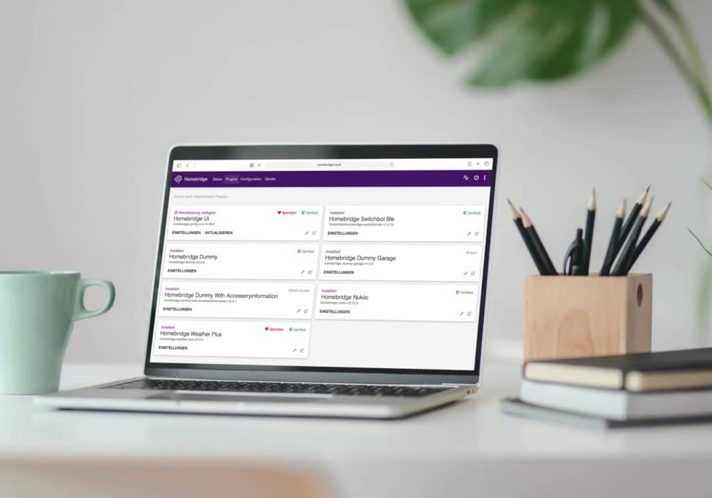 Homebridge Plugins installieren, konfigurieren und verwalten