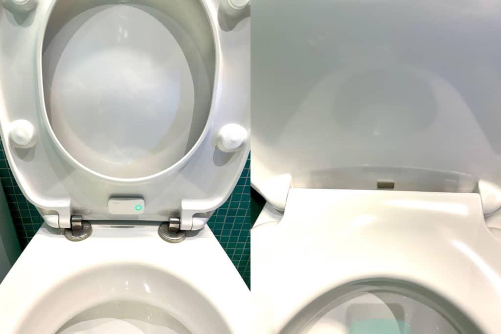 HomeKit-Kontaktsensor an der Klobrille