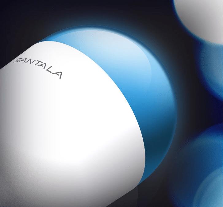 Santala startet farbige Glühbirne und Offong kompakten Zwischenstecker