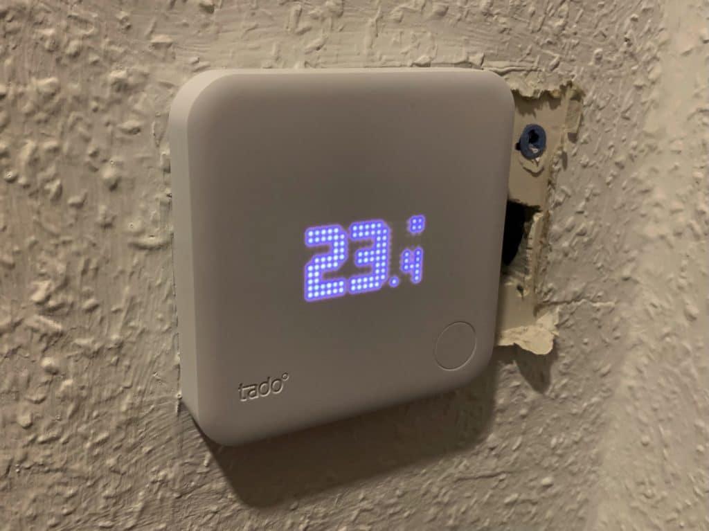 tado° Smartes Thermostat installiert