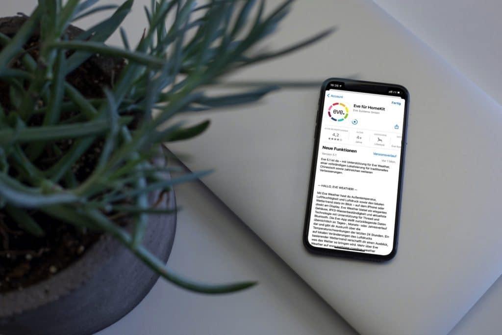 App-Update: Eve Systems bietet Migration von Messwerten an