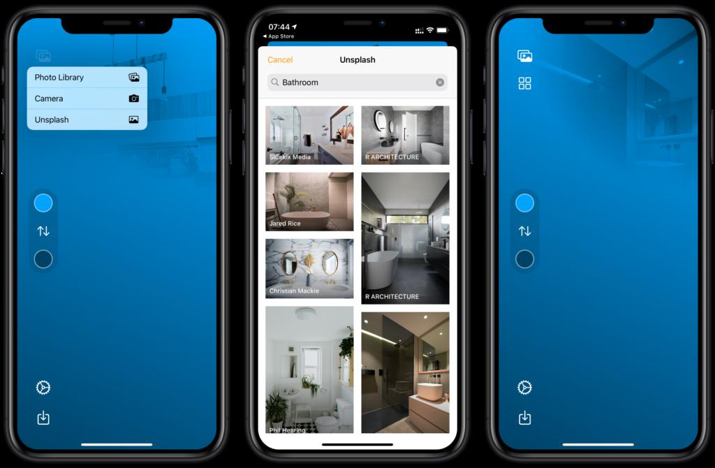 Bild-Bibliothek von Unsplash in HomePaper integriert