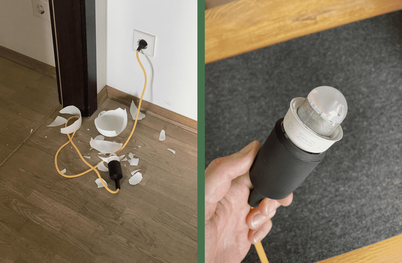 IKEA Frostglas-Lampe