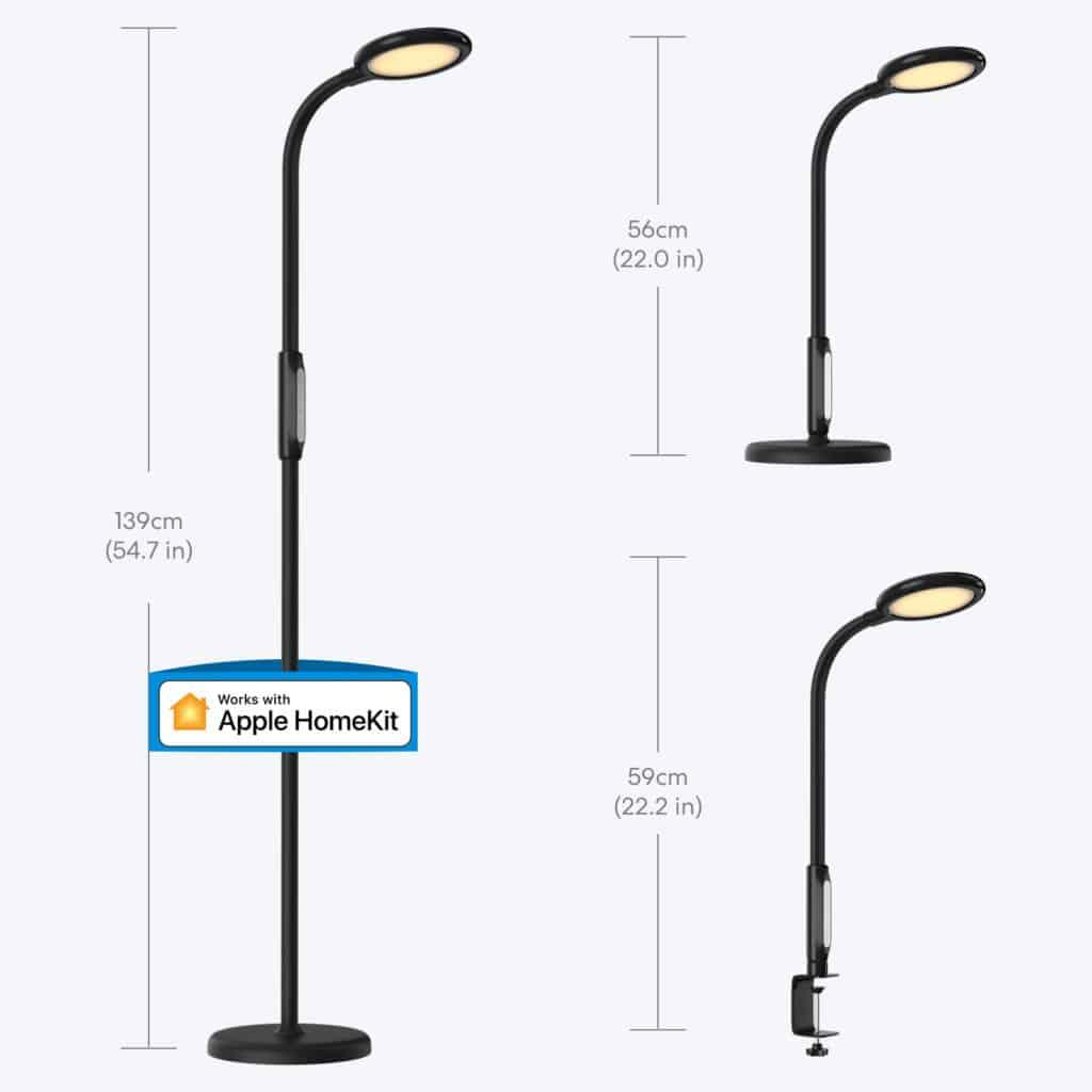 Die Smart Floor Lamp MSL610 kann als Steh- oder Tischlampe genutzt werden