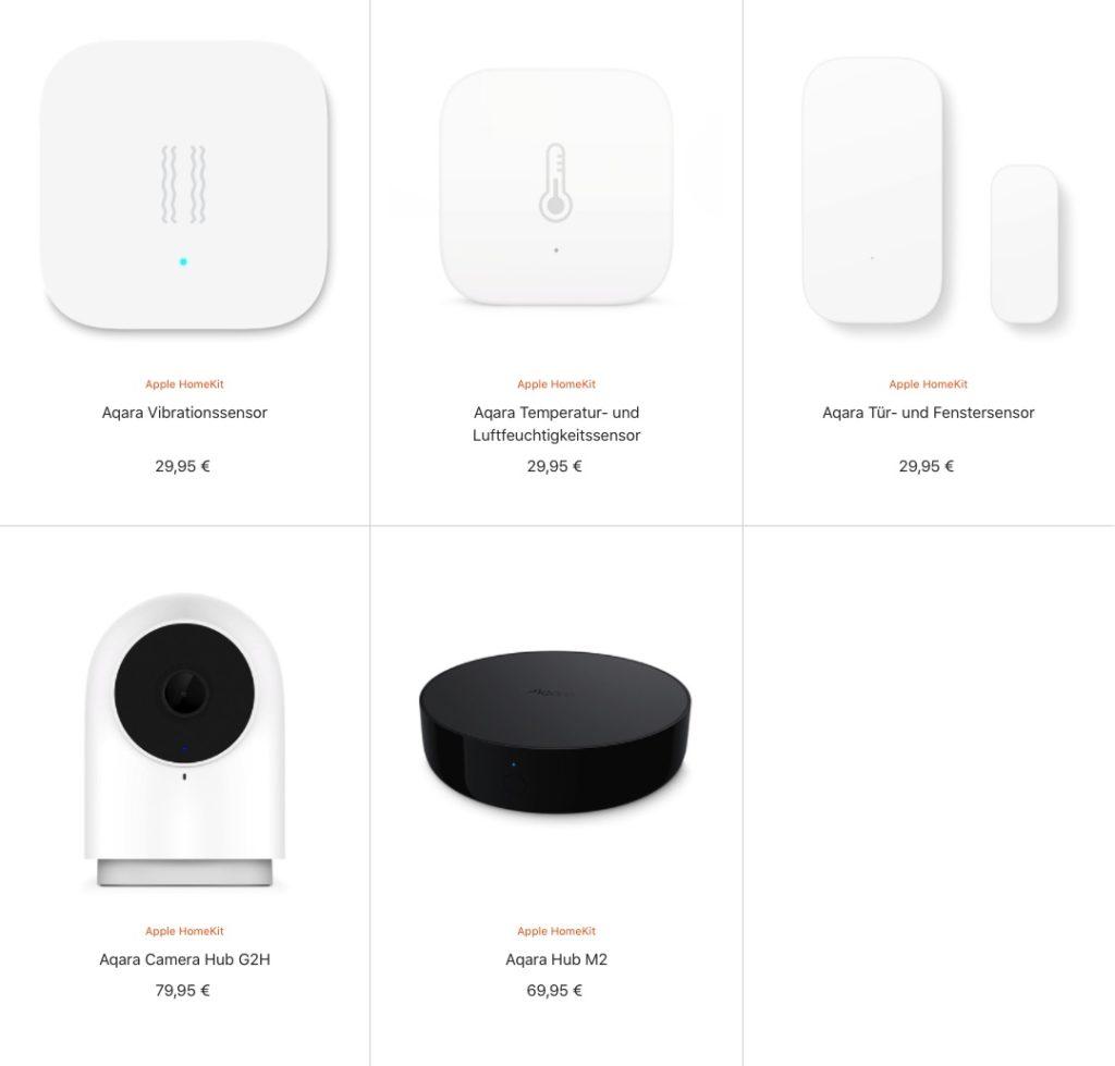 Aqara-Geräte bei Apple erhältlich
