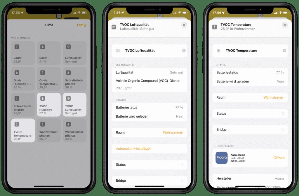 Aqara TVOC in Apple Home-App