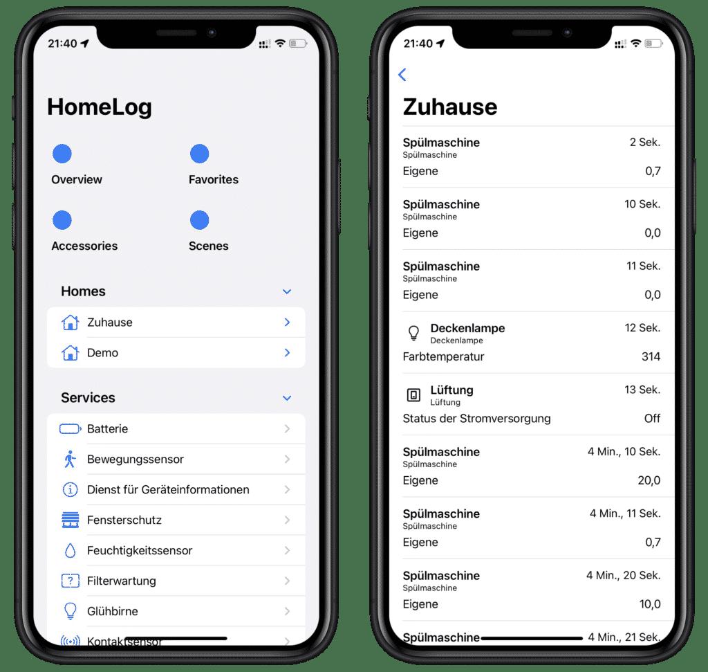 HomeLog: App protokolliert HomeKit-Ereignisse